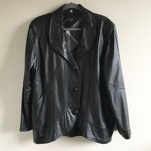 Vintage oversized leather blazer